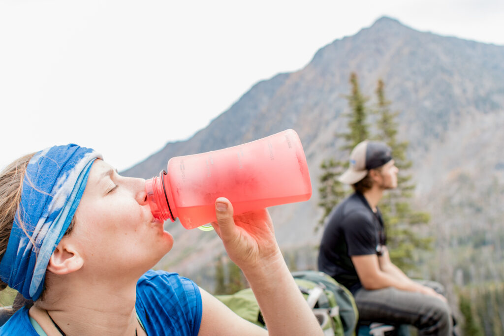 summer hike hydration