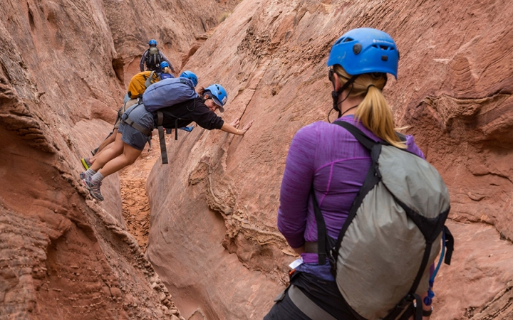 canyoneering expedition in the southwest
