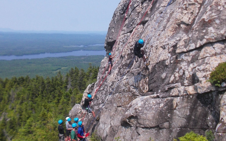 Rock climbing for teens