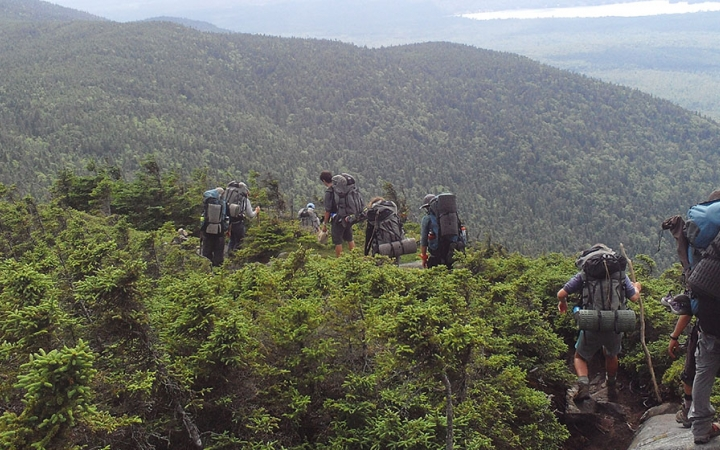 Appalachian trail backpacking