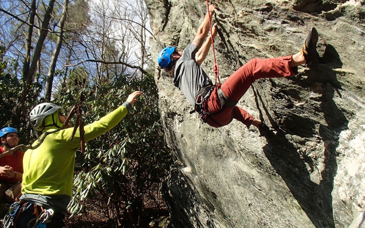 rock climbing trip in north carolina