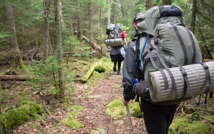 backpacking gap year program in maine