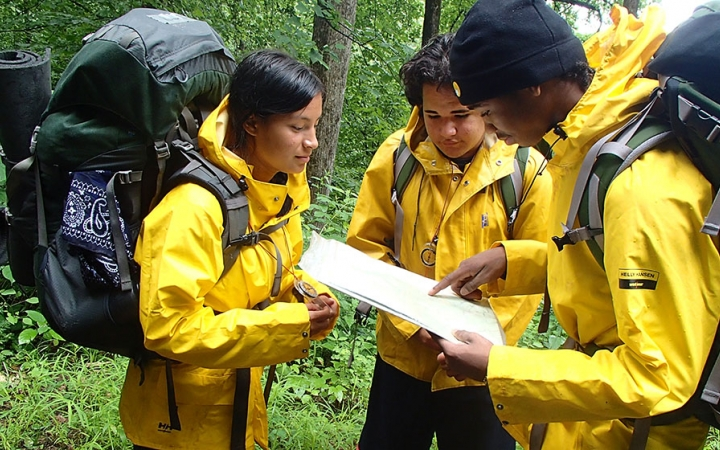 orienteering and backpacking