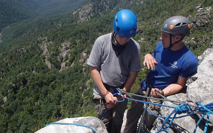rock climbing trip for high schoolers in north carolina