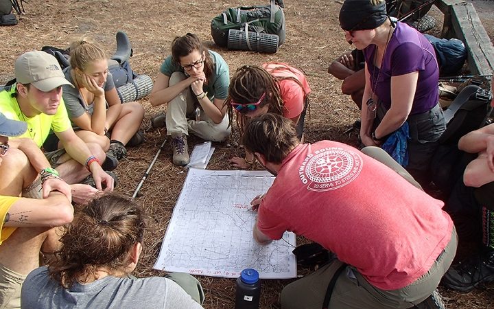 learn outdoor skills on gap year course