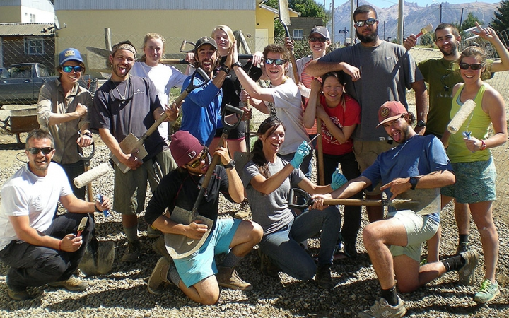 service learning on gap year course