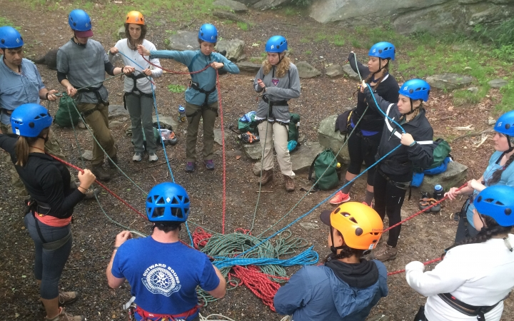 rock climbing course for young adults