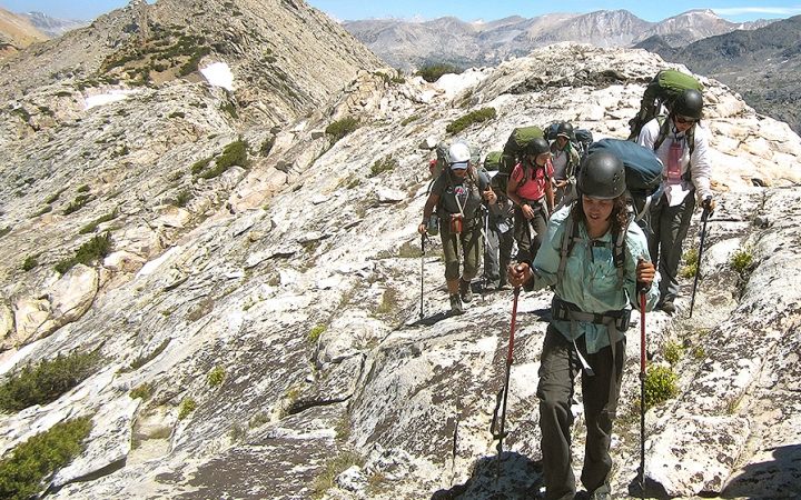 mountaineering course for young adults