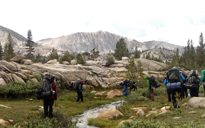 backpacking camp for teens in yosemite
