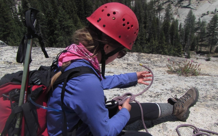 rock climbing summer program for teens in yosemite