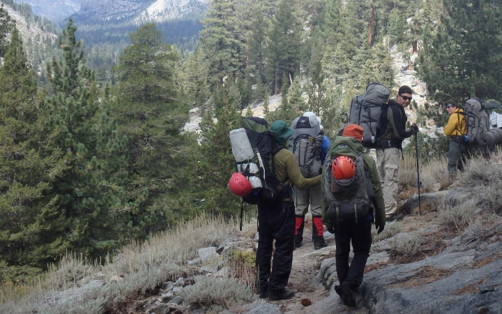 adults only backpacking trip in yosemite