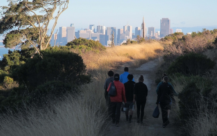 urban backpacking trip for teens