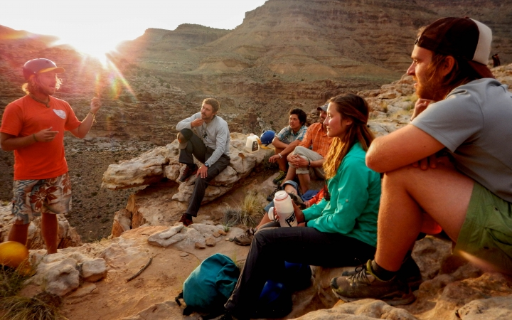 Outdoor leadership training in Utah during a guided Outward Bound backpacking venture