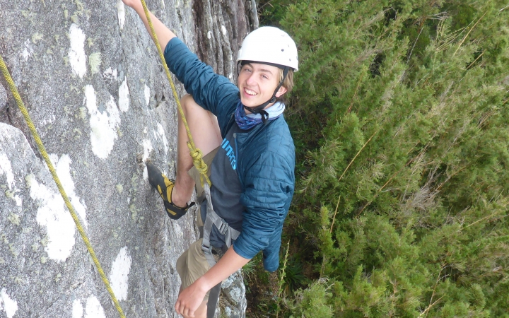 learn rock climbing skills on gap year semester course with outward bound