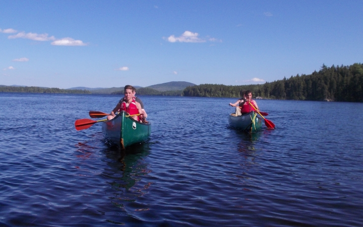 canoeing trip for teens in maine