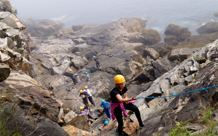 rock climbing lessons for teens