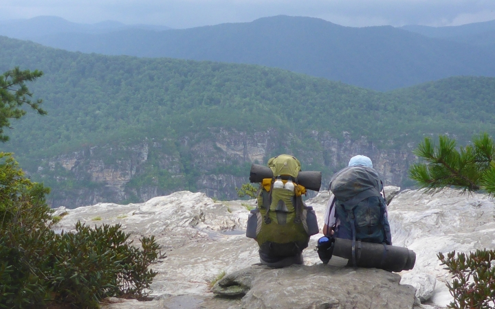 backpacking camp for families in blue ridge mountains