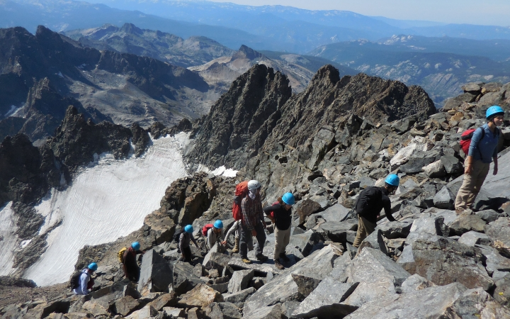 mountaineering adventure trip for young adults in california