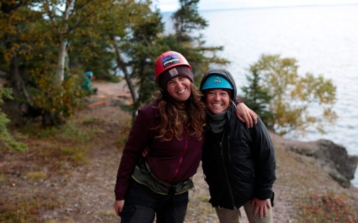 boundary waters rock climbing for struggling teen girls