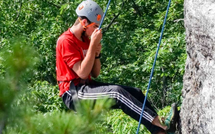 rock climbing trip for teens in maine