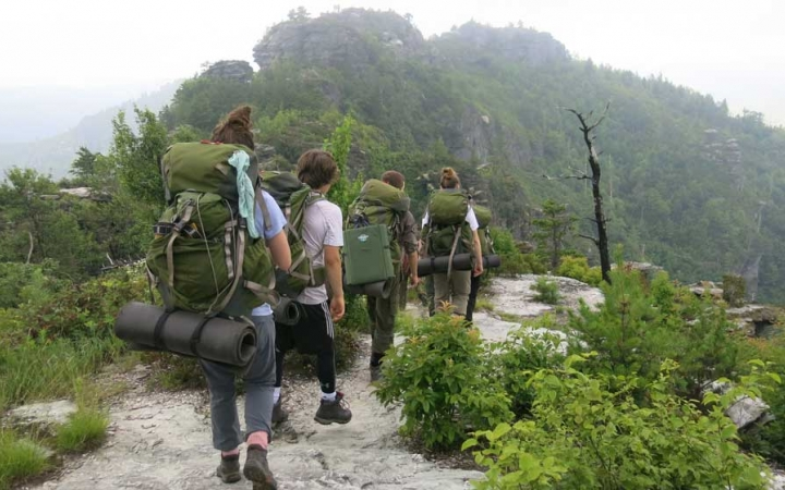 outdoor education backpacking trip