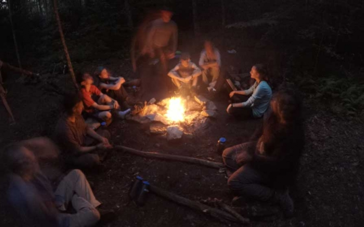 teens learn cooking skills on backpacking course