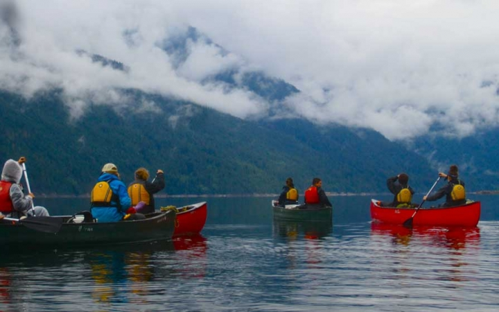 canoeing adventure in pacific northwest