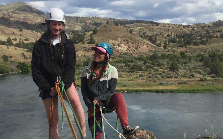 rock climbing program for teen girls