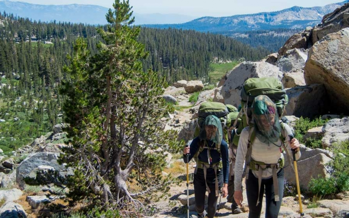 backpacking trips for young women