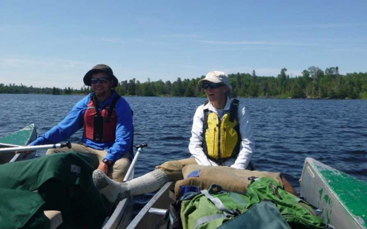 adults unplug on canoeing trip in minnesota