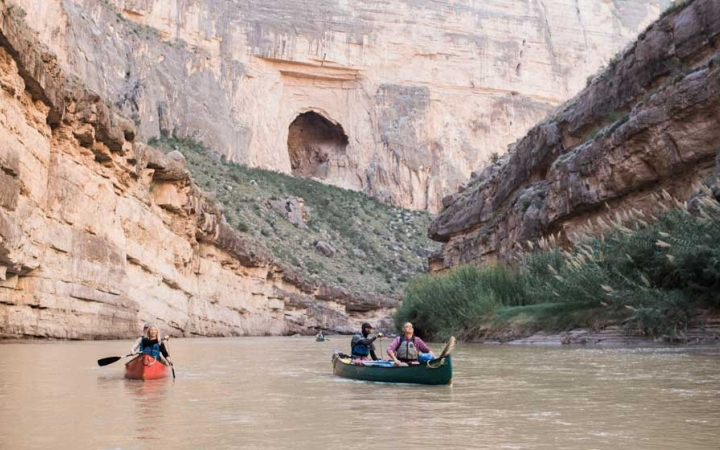 canoeing adventure trip for young adults in big bend