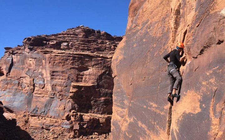 rock climbing trip in the southwest for young adults