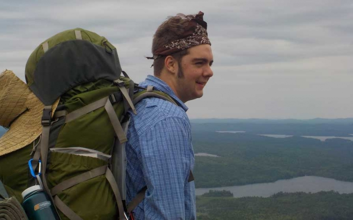 young adults backpacking in maine