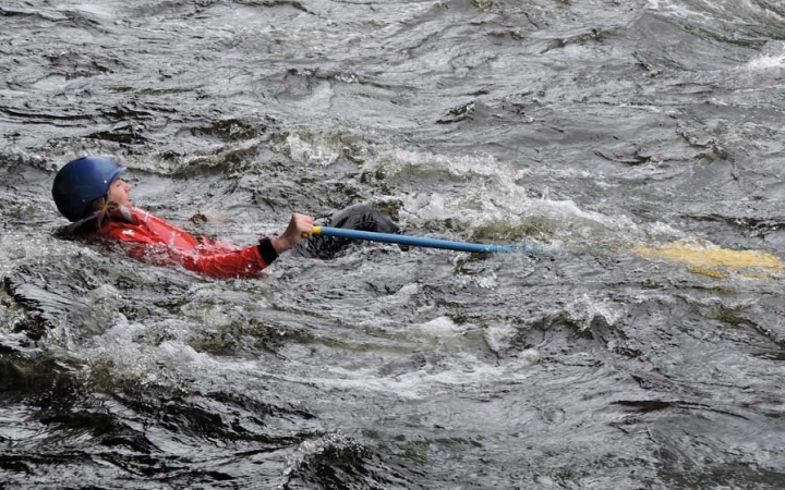 teens learn whitewater skills