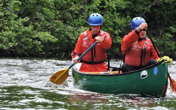 high schoolers learn whitewater skills