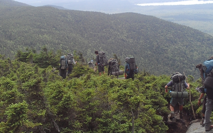 backpacking gap year trip for young adults in maine