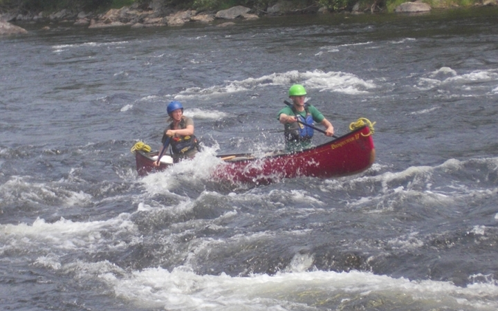 whitewater canoeing course in maine