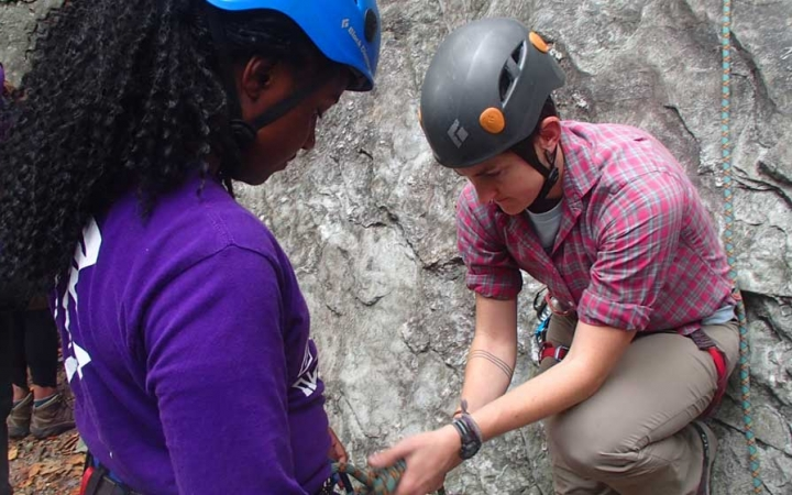 lgbtq teens rock climb in north carolina