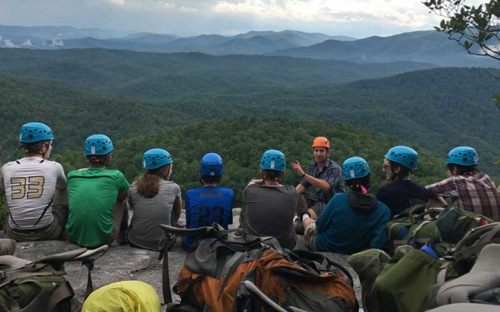 lgbtq students bond on rock climbing course