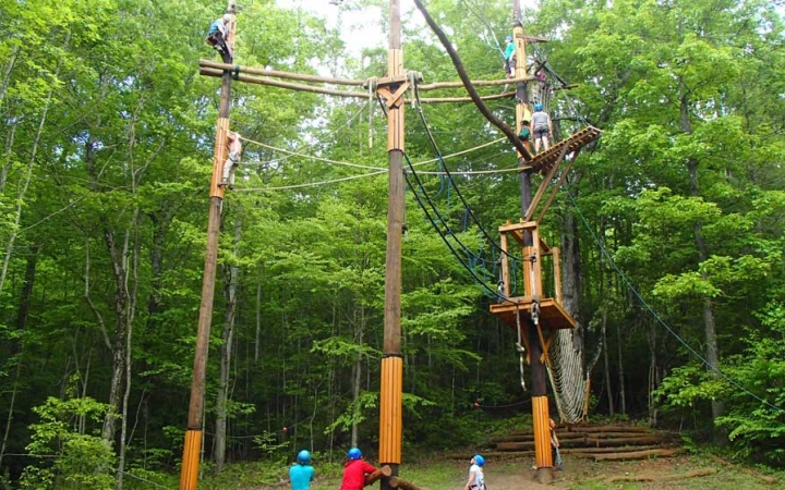 ropes course for high school