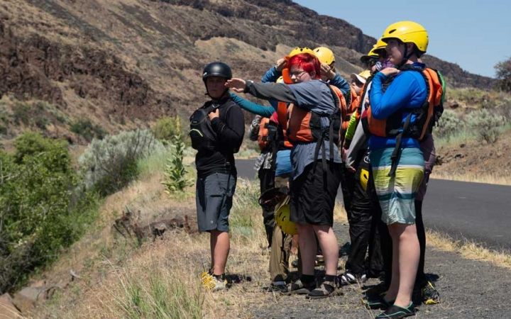 rafting course for lgbtq teens