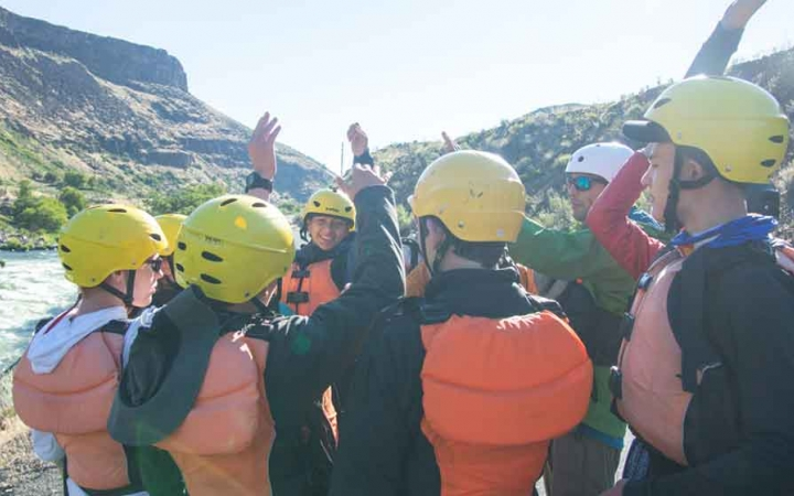 rafting trip for grieving teens