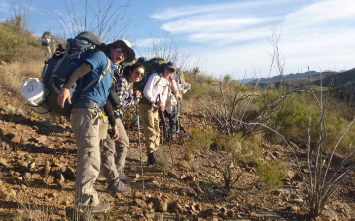backpacking trip for at risk teens