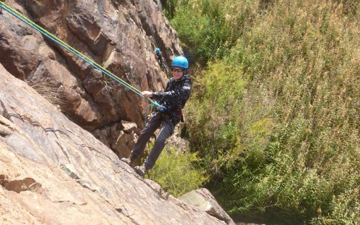 teens learn rock climbing skills in texas