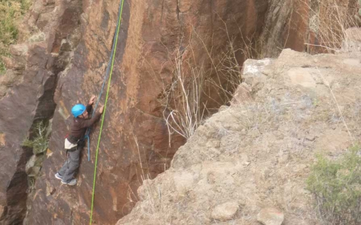 rock climbing class in big bend