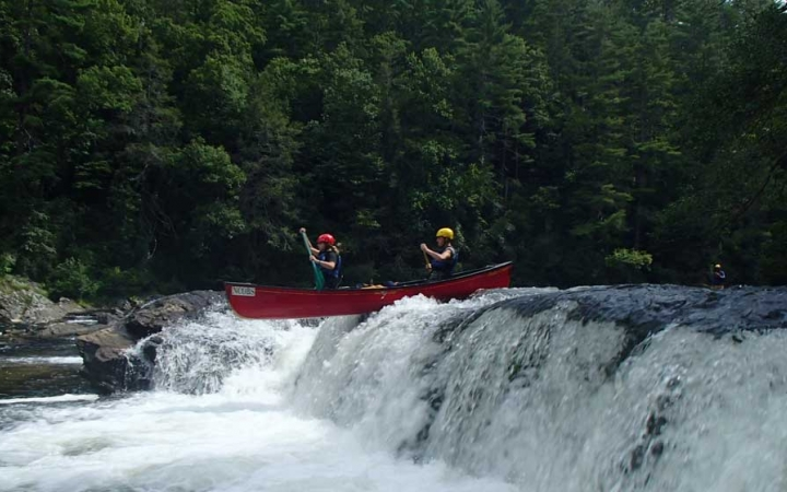 whitewater canoeing trip for young adults