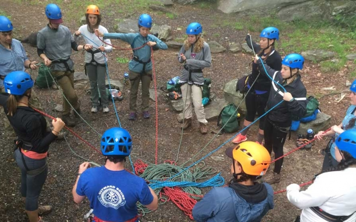 rock climbing gap year program in north carolina
