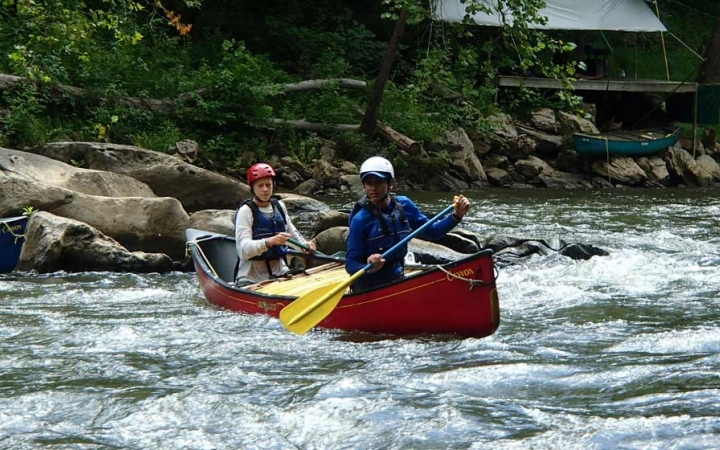 whitewater canoeing gap year semester trip