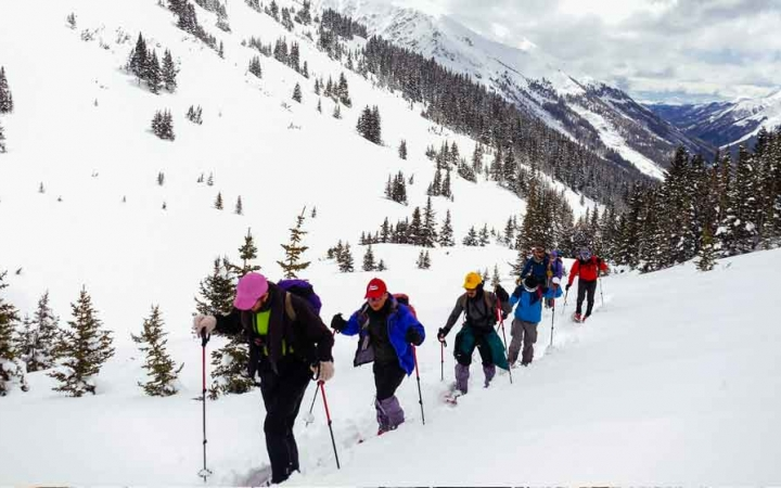 snowshoeing adventure for adults in colorado